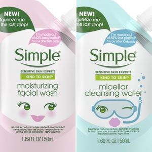 — SIMPLE — Facial Wash / Micellar Cleansing Water